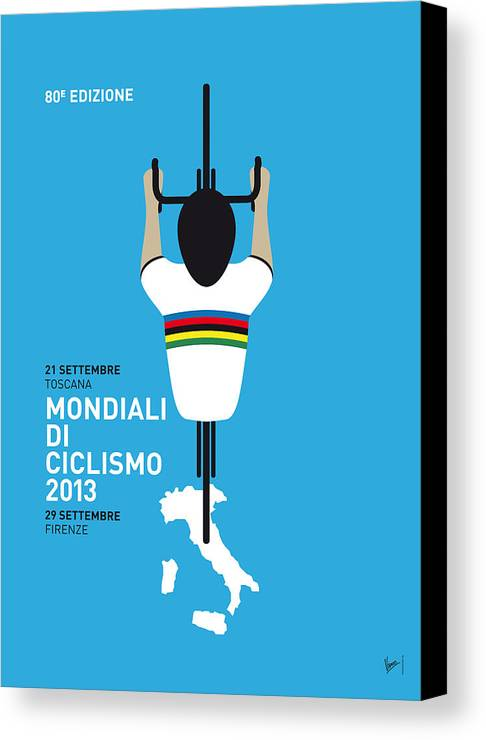 2013 Canvas Print featuring the digital art My World Championships Minimal Poster by Chungkong Art
