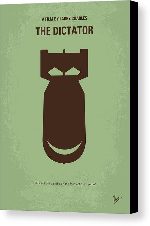 The Canvas Print featuring the digital art No212 My The Dictator Minimal Movie Poster by Chungkong Art