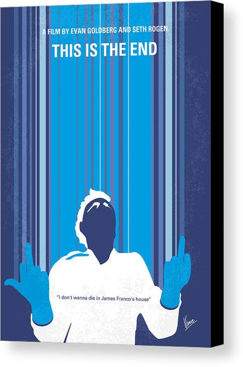 This Canvas Print featuring the digital art No220 My This Is The End Minimal Movie Poster by Chungkong Art