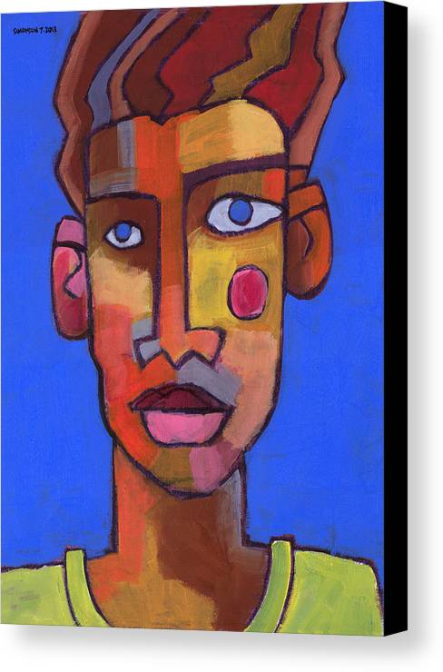 Portrait Canvas Print featuring the painting Still Waters by Douglas Simonson