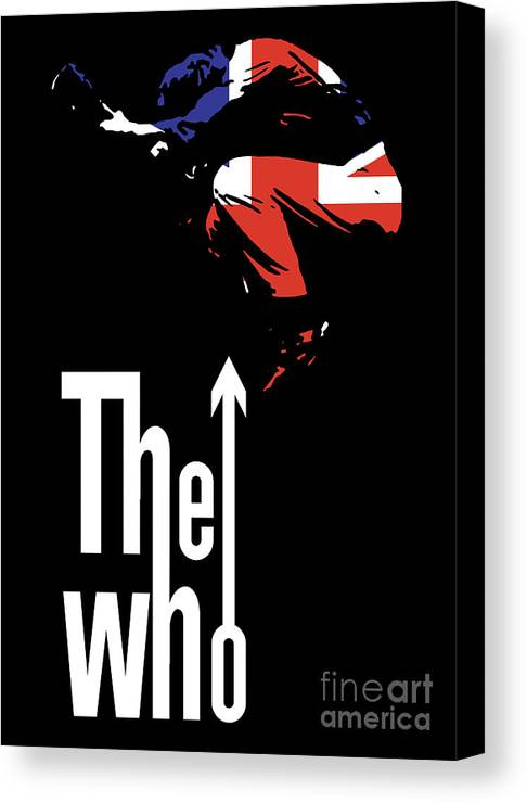 The Who Canvas Print featuring the digital art The Who No.01 by Unknow