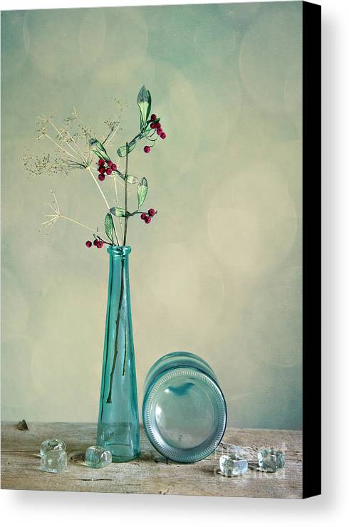Glass Canvas Print featuring the photograph Autumn Still Life by Nailia Schwarz