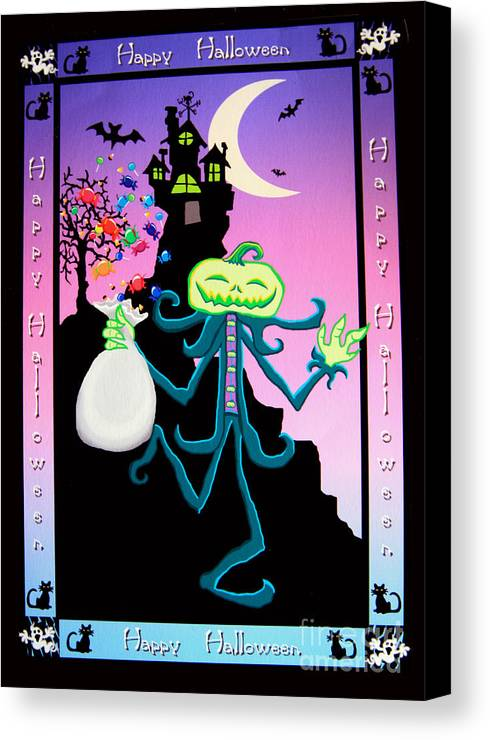 Haunted Canvas Print featuring the digital art Haunted House by Nick Gustafson