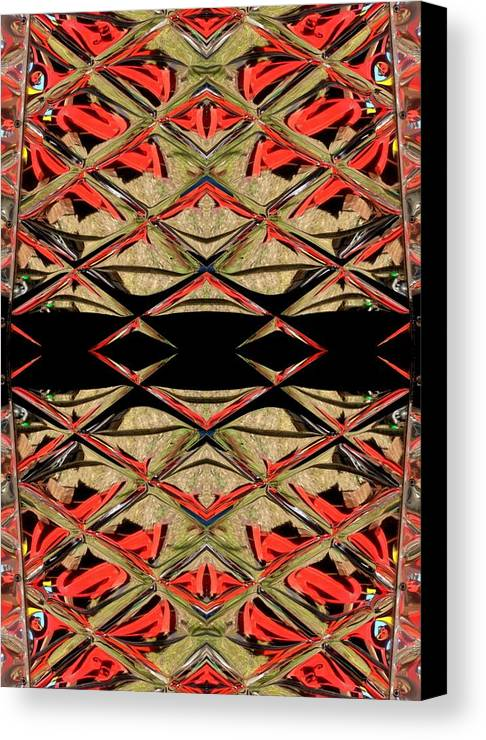 Red Canvas Print featuring the ceramic art Lit0911001008 by Tres Folia