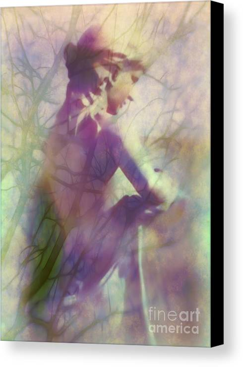 Statue Canvas Print featuring the photograph Statue In The Garden by Judi Bagwell