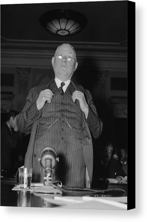 History Canvas Print featuring the photograph William Green 1873-1952, President by Everett