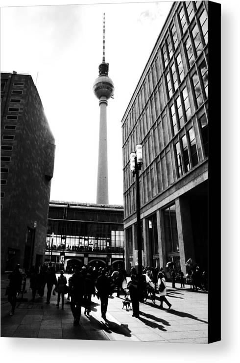 Berlin Canvas Print featuring the photograph Berlin Street Photography by Falko Follert