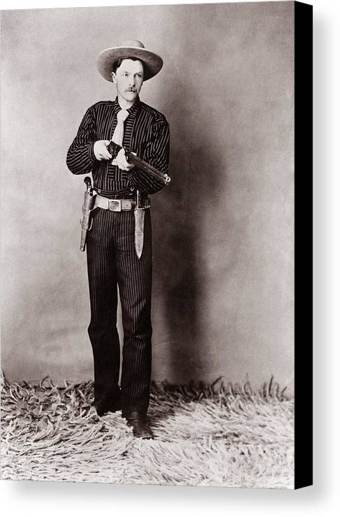 History Canvas Print featuring the photograph Bill Bennett, Wild West Detective by Everett