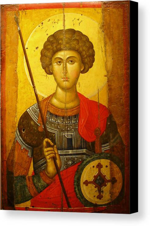 Byzantine Knight Canvas Print featuring the photograph Byzantine Knight by Ellen Henneke