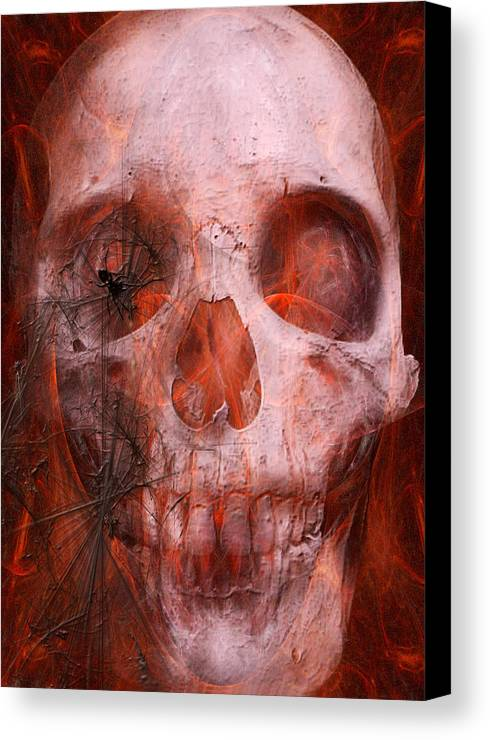Soul Canvas Print featuring the digital art Just Grining by Jean Gugliuzza