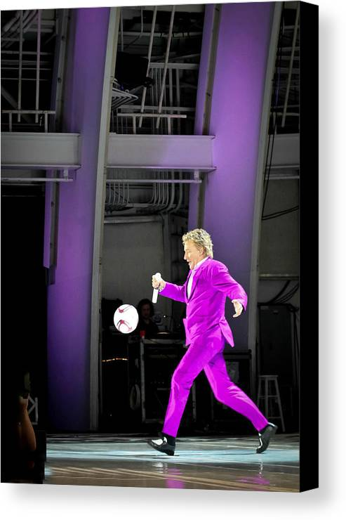 Rod Stewart Canvas Print featuring the photograph Rod Stewart Soccer Ball by April Reppucci