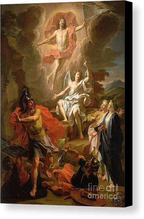The Resurrection Of Christ Canvas Print featuring the painting The Resurrection Of Christ by Noel Coypel