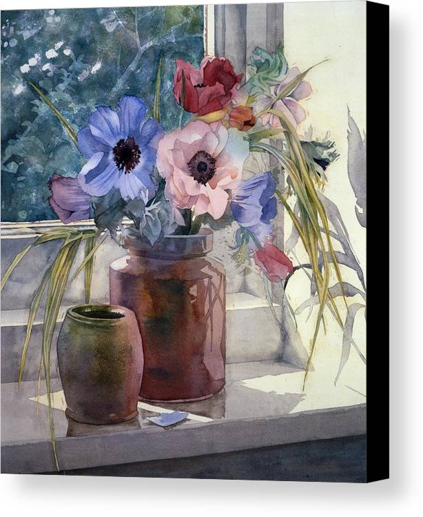 Julia Rowntree Canvas Print featuring the photograph Anemones by Julia Rowntree