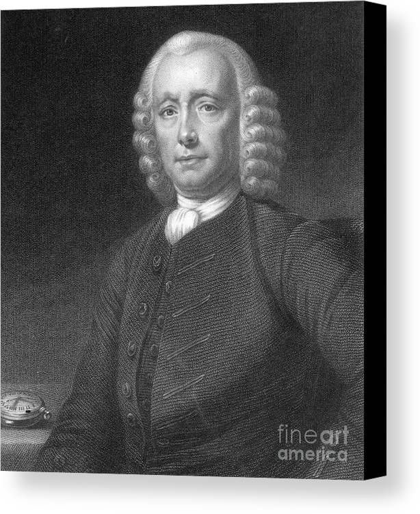 History Canvas Print featuring the photograph John Harrison, English Inventor by Photo Researchers