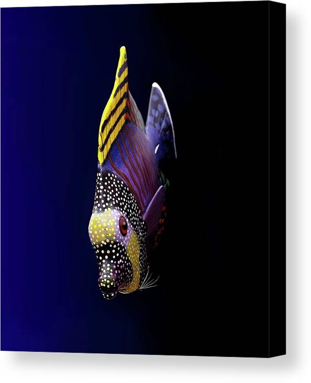 Vertical Canvas Print featuring the photograph Tropical Fish by Pieceoflace Photography