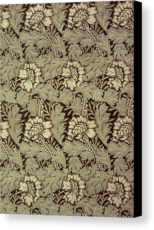 Anemones Canvas Print featuring the tapestry - textile Anemone Design by William Morris