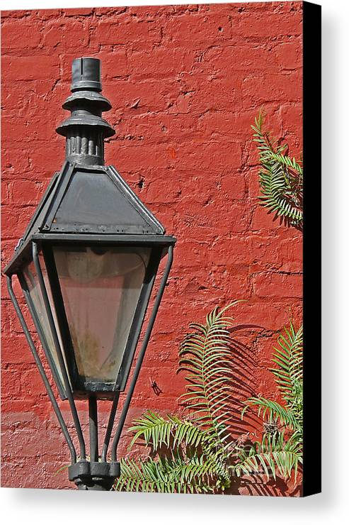 New Orleans Canvas Print featuring the photograph Street Lamp by Jeanne Woods