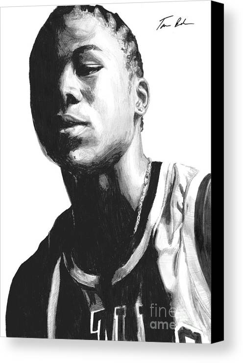 Nba Canvas Print featuring the drawing Wagner by Tamir Barkan