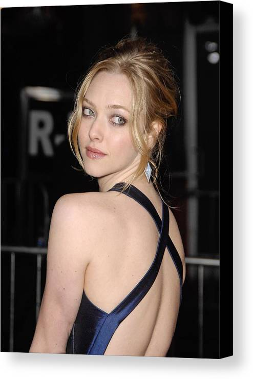 Amanda Seyfried Canvas Print featuring the photograph Amanda Seyfried At Arrivals For Dear by Everett
