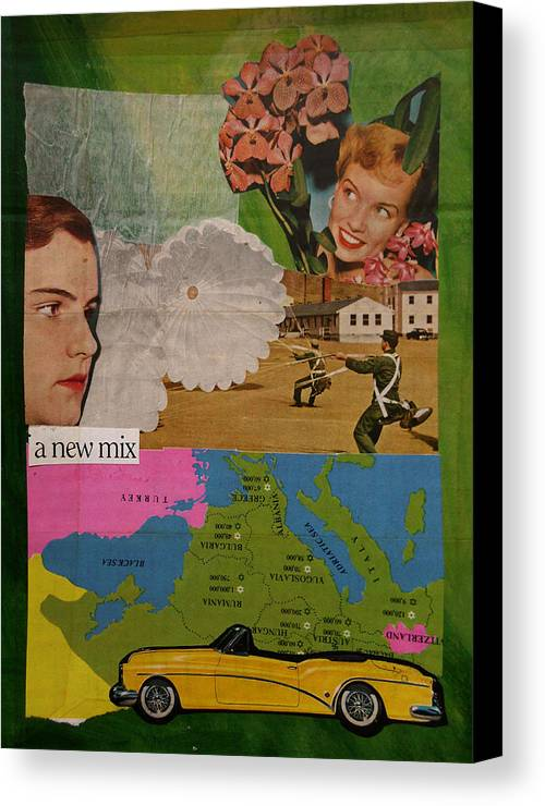 Mix Canvas Print featuring the mixed media A New Mix by Adam Kissel