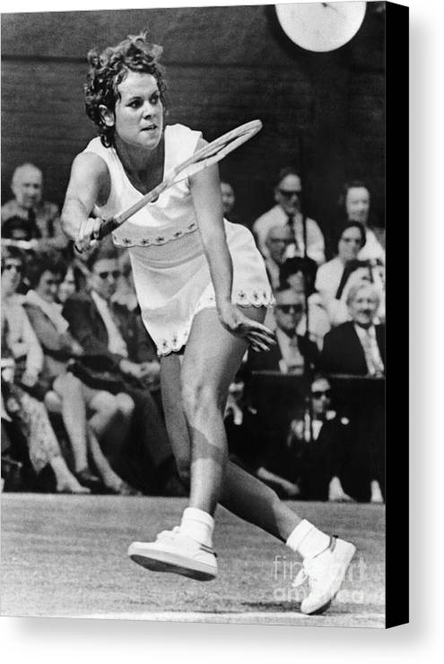 1972 Canvas Print featuring the photograph Evonne Goolagong (1951- ) by Granger