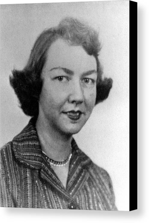 1950s Portraits Canvas Print featuring the photograph Flannery Oconnor, 1950s by Everett
