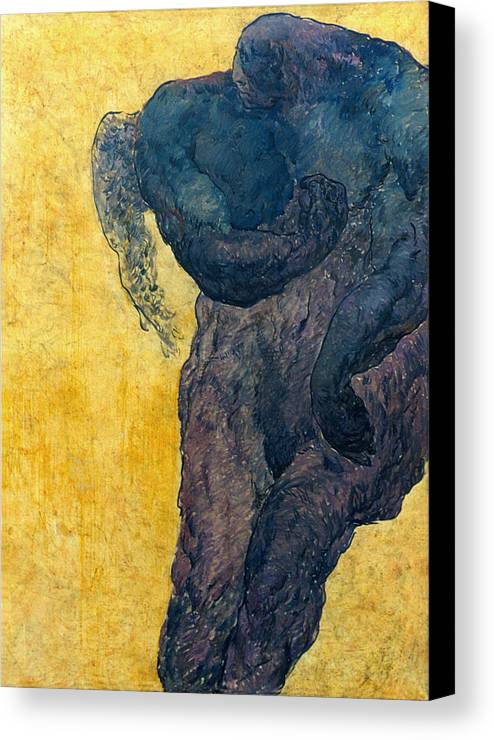 Nude Canvas Print featuring the painting Jan 1 by Valeriy Mavlo