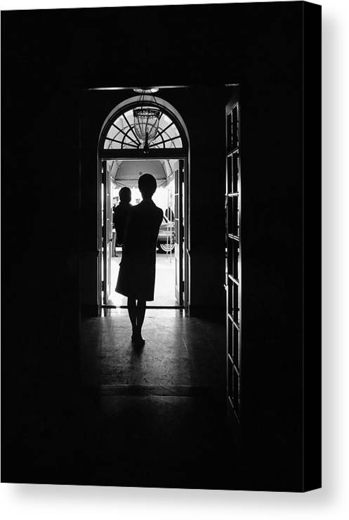 History Canvas Print featuring the photograph Silhouette Portrait Of Jacqueline by Everett