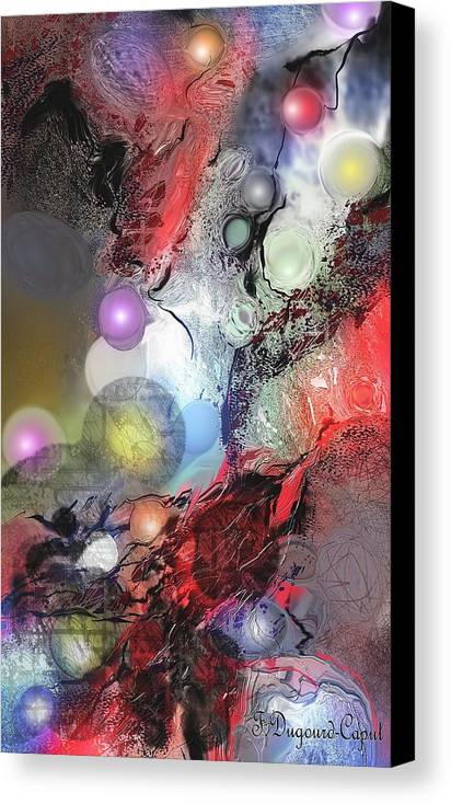 Abstract Canvas Print featuring the painting Sci-fi by Francoise Dugourd-Caput