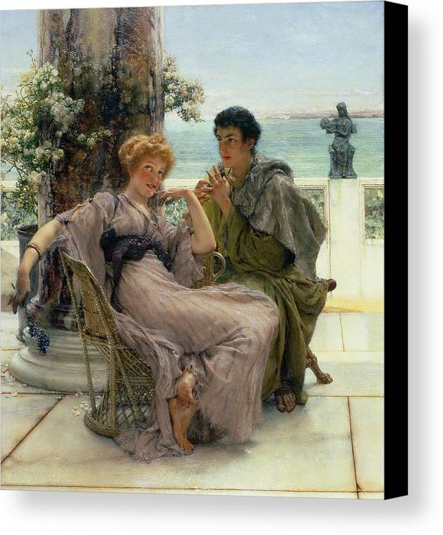 Courtship (the Proposal) 1892 (oil On Canvas) By Sir Lawrence Alma-tadema (1836-1912) Canvas Print featuring the painting The Proposal by Sir Lawrence Alma Tadema