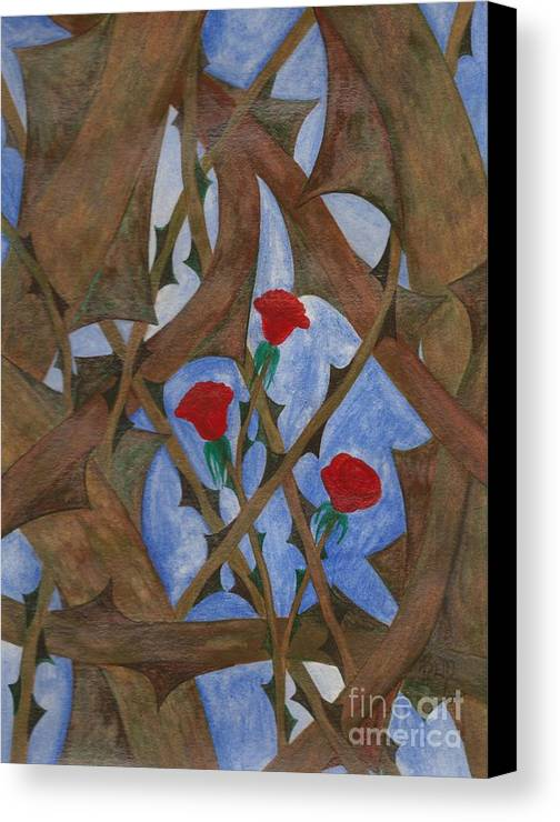 Roses Canvas Print featuring the painting It's Complicated by Robert Meszaros