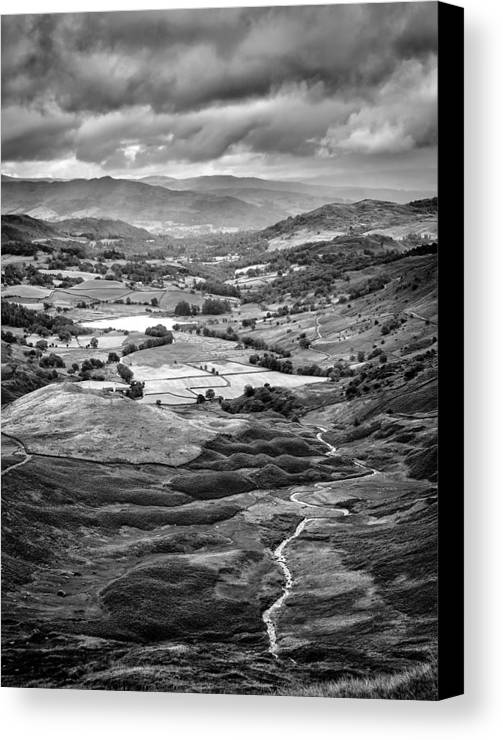 Lake District Canvas Print featuring the photograph Little Langdale Tarn by Alexis Birkill