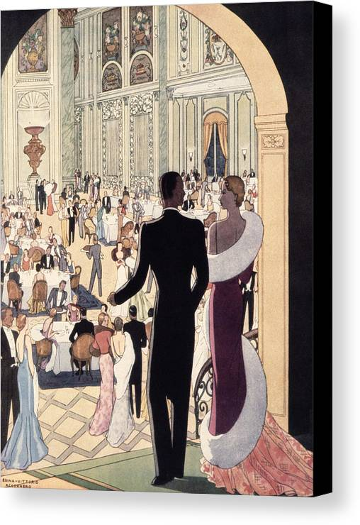 30s Canvas Print featuring the painting Poster Advertising The Rex by Italian School