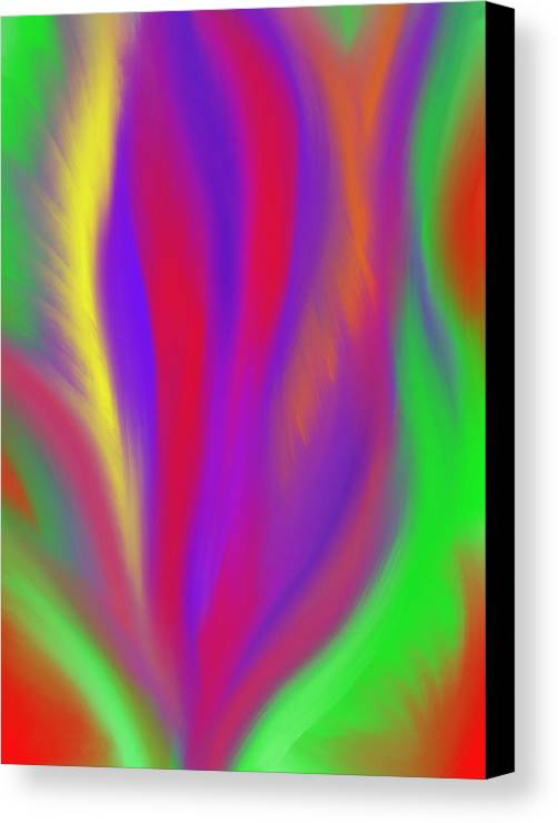 Vibrant Canvas Print featuring the painting The Colors' Creation by Daina White