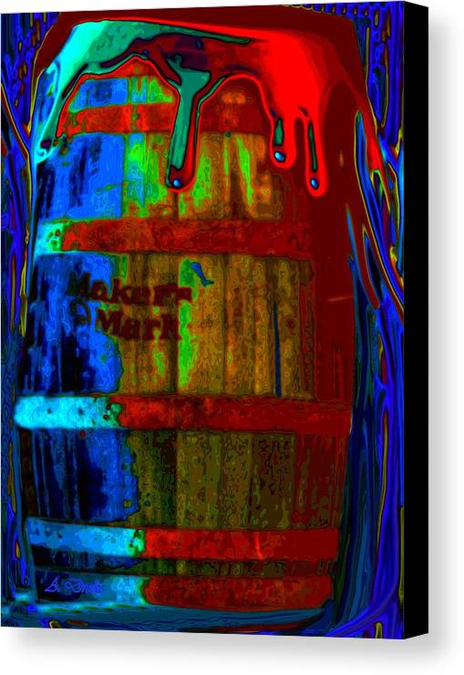 Whiskey Canvas Print featuring the digital art Whiskey A Go Go by Alec Drake
