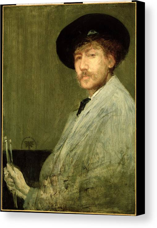 Dtr114682 Canvas Print featuring the photograph Arrangement In Grey - Portrait Of The Painter by James Abbott McNeill Whistler