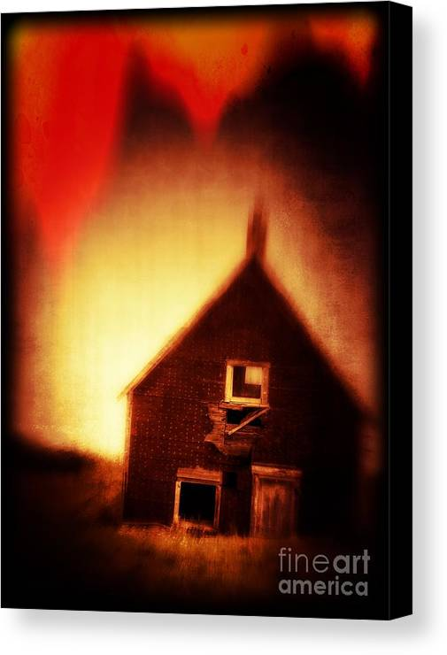 Scary Canvas Print featuring the photograph Welcome To Hell House by Edward Fielding
