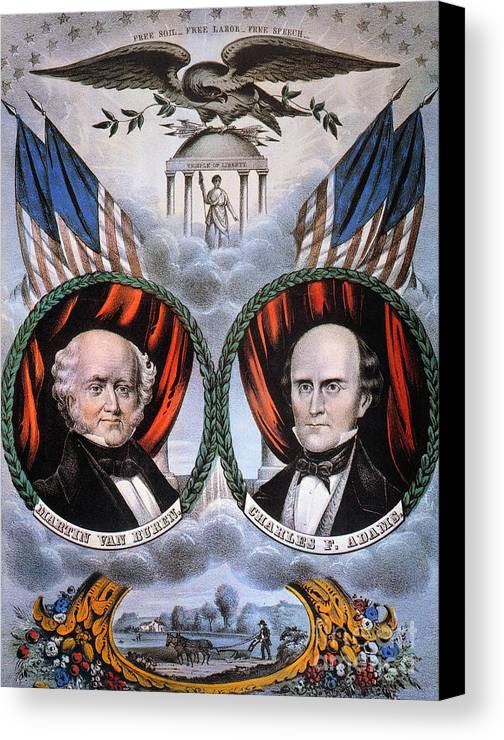 1848 Canvas Print featuring the photograph Presidential Campaign, 1848 by Granger