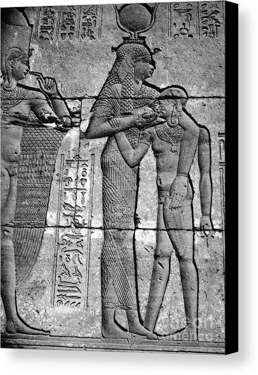 1st Century B.c Canvas Print featuring the photograph Cleopatra Vii (69-30 B.c.) by Granger