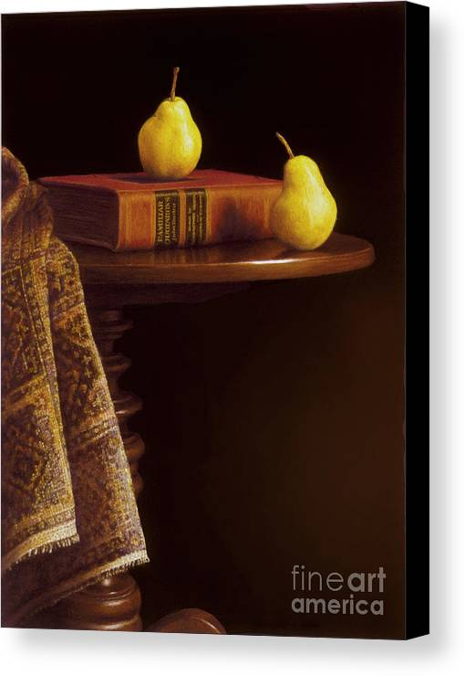 Pears Canvas Print featuring the painting A Bartlett Of A Different Kind by Barbara Groff