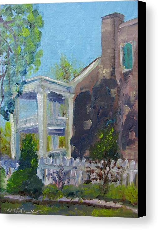 Carnton Canvas Print featuring the painting Afternoon At Carnton Plantation by Susan E Jones