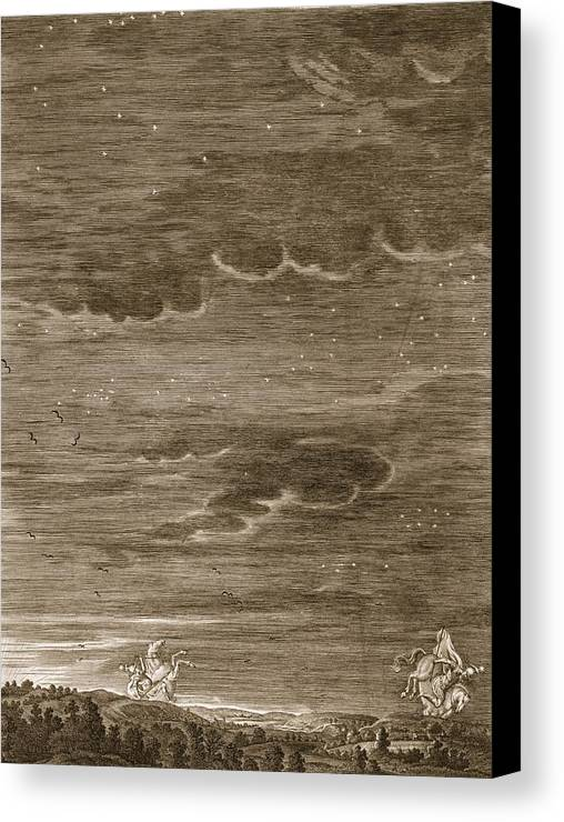 Twins Canvas Print featuring the drawing Castor And Pollux, 1731 by Bernard Picart