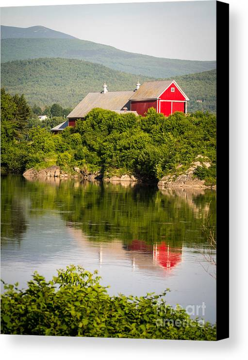 Collection Canvas Print featuring the photograph Connecticut River Farm by Edward Fielding