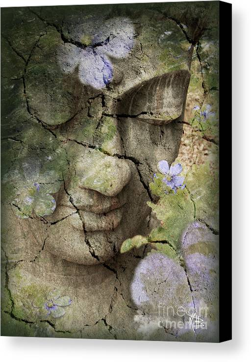 Buddha Canvas Print featuring the mixed media Inner Tranquility by Christopher Beikmann