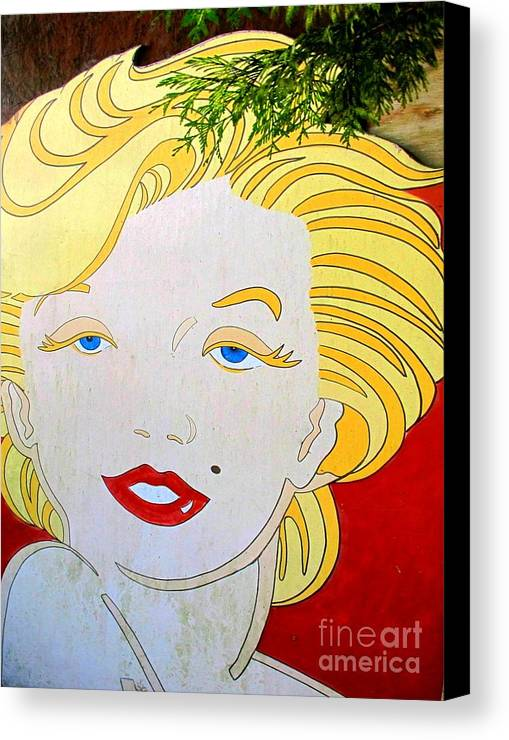 Woman Canvas Print featuring the photograph Marilyn by Ethna Gillespie