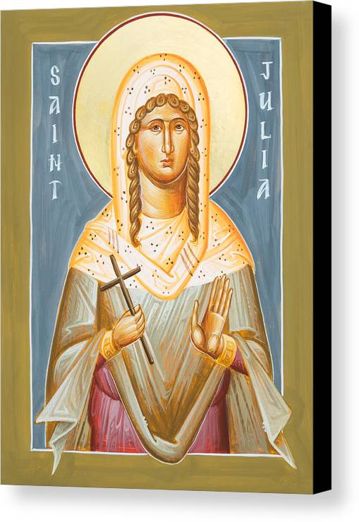 St Julia Icon Canvas Print featuring the painting St Julia Of Carthage by Julia Bridget Hayes