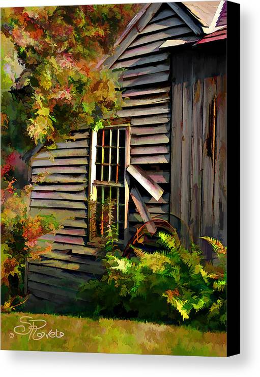 Shed Canvas Print featuring the painting Shed by Suni Roveto