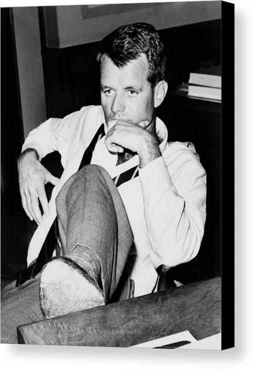 History Canvas Print featuring the photograph Attorney General Robert F. Kennedy by Everett