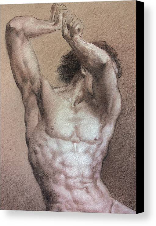 Man Canvas Print featuring the drawing Nude 9 A by Valeriy Mavlo