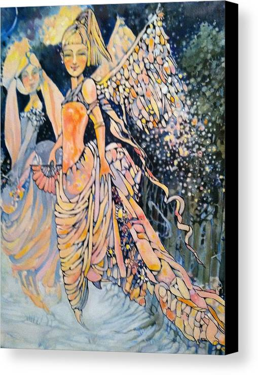 Angels Canvas Print featuring the drawing Out Of The Woods by Jackie Rock